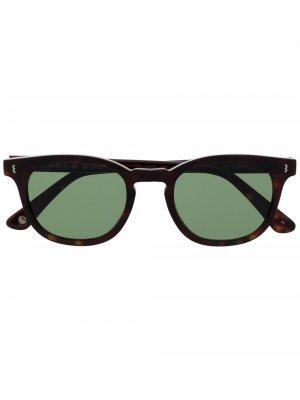 Солнцезащитные очки трапециевидной формы Eight & Bob. Цвет: черный