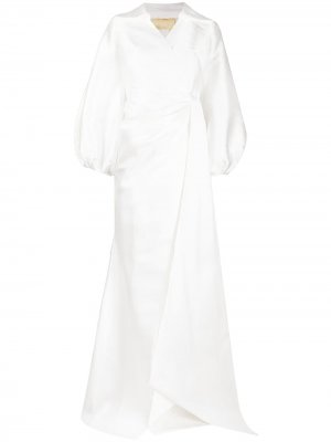 Свадебное платье Letizia с запахом Parlor. Цвет: белый