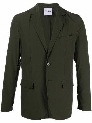 Однобортный пиджак Aspesi. Цвет: зеленый