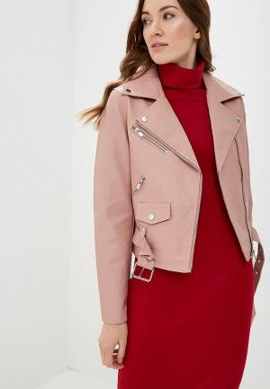 Куртка кожаная Vila. Цвет: розовый