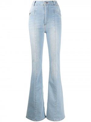 Ковбойские расклешенные джинсы Philipp Plein. Цвет: синий