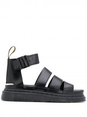 Сандалии с открытым носком и пряжкой Dr. Martens. Цвет: черный