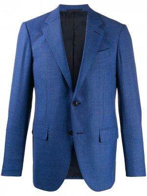 Пиджак с карманами Ermenegildo Zegna. Цвет: синий