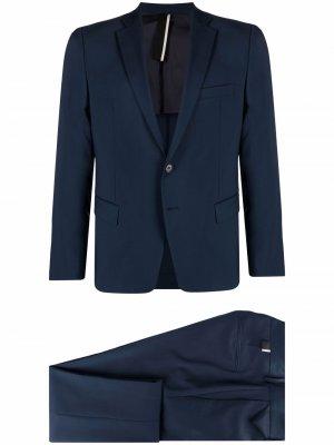 Костюм с однобортным пиджаком Low Brand. Цвет: синий