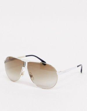 Круглые солнцезащитные очки в белой оправе -Белый Carrera