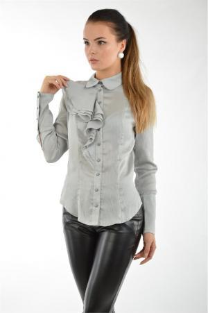 Блузка Gloss. Цвет: серый
