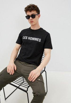 Футболка Les Hommes Urban. Цвет: черный