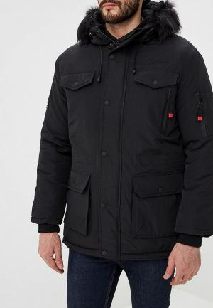 Куртка утепленная Geographical Norway. Цвет: черный