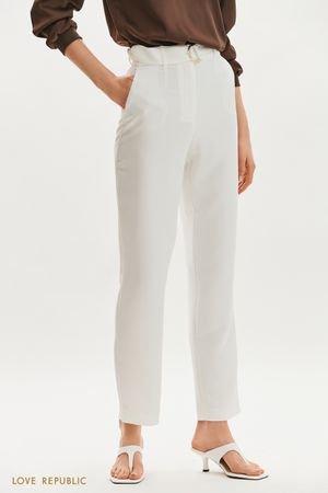 Прямые брюки с текстильным поясом LOVE REPUBLIC