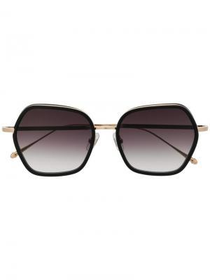Солнцезащитные очки в квадратной оправе M3078 Matsuda. Цвет: золотистый