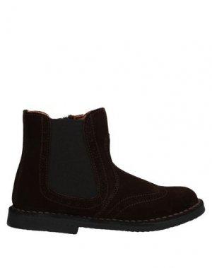 Полусапоги и высокие ботинки EUREKA. Цвет: темно-коричневый
