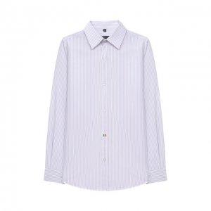 Хлопковая рубашка Alessandro Borelli Milano. Цвет: разноцветный