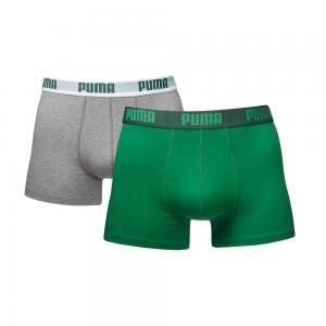 Мужское нижнее белье Puma Basic Boxer 2P. Цвет: зеленый