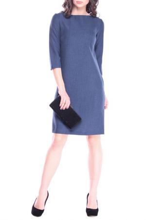 Платье MAURINI. Цвет: темно-синий