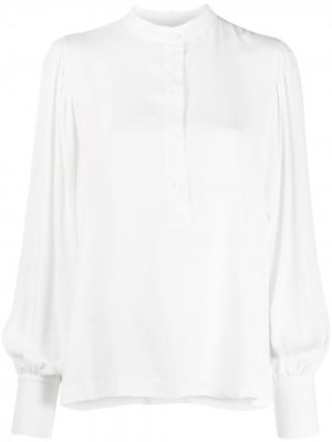Блузка свободного кроя без воротника 8pm. Цвет: белый