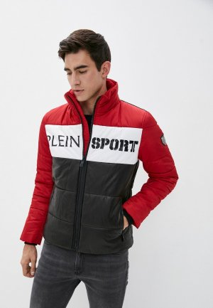 Куртка утепленная Plein Sport. Цвет: разноцветный