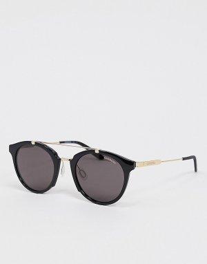 Черные круглые солнцезащитные очки с верхней планкой -Черный Carrera