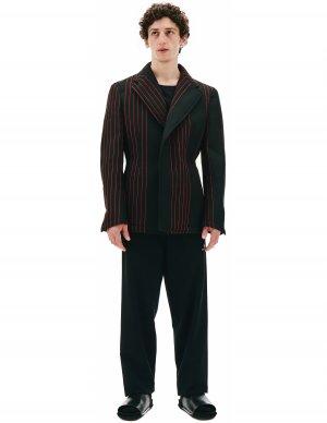Черный пиджак в красную полоску Comme des Garcons Homme plus