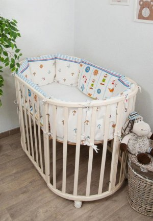 Бортик для детской кровати Сонный Гномик Маяк. Цвет: белый