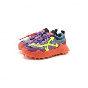 Комбинированные кроссовки ODSY-1000 Off-White. Цвет: фиолетовый