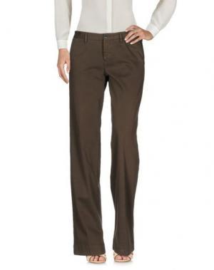 Повседневные брюки PT Torino. Цвет: хаки