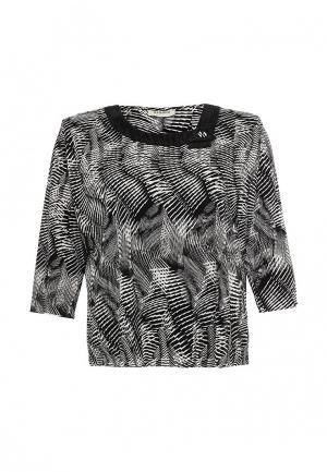 Блуза Bassini BA069EWSDT30. Цвет: черно-белый