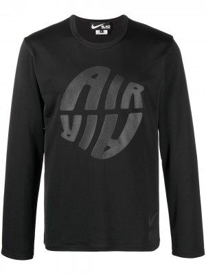 Топ с длинными рукавами логотипом Black Comme Des Garçons. Цвет: черный