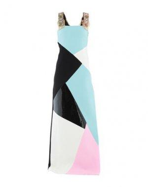 Длинное платье FAUSTO PUGLISI. Цвет: светло-зеленый