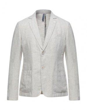 Пиджак SSEINSE. Цвет: бежевый