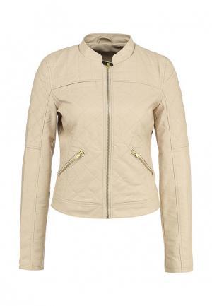 Куртка кожаная Noisy May. Цвет: бежевый