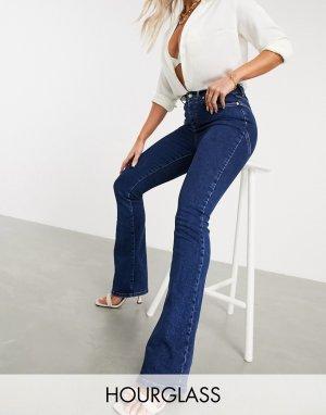 Выбеленные расклешенные джинсы Hourglass-Синий ASOS DESIGN
