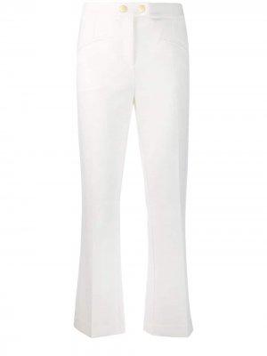 Укороченные брюки Cavalli Class. Цвет: белый