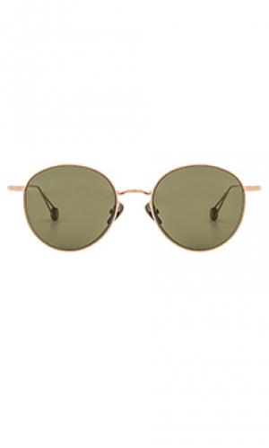 Солнцезащитные очки madeleine Ahlem. Цвет: металлический бронзовый