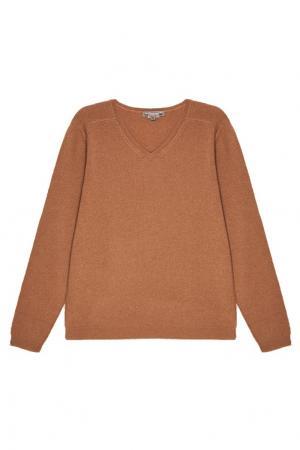 Бежевый пуловер из кашемира Bonpoint. Цвет: бежевый