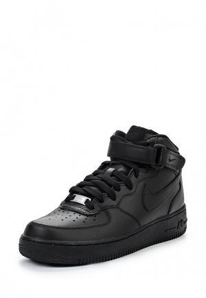 Кроссовки Nike Womens Air Force 1 07 Mid Shoe. Цвет: черный