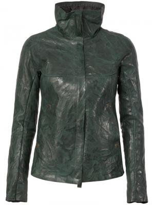 Дутая кожаная куртка Isaac Sellam Experience. Цвет: зелёный