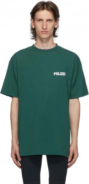 Green Polizei T-Shirt VETEMENTS. Цвет: green