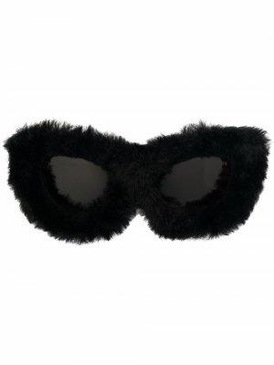 Fluffy Cat eye-frame sunglasses Balenciaga. Цвет: черный