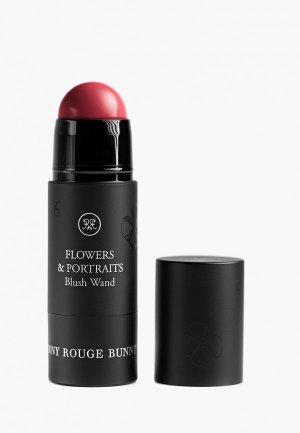 Румяна Rouge Bunny Blush Wand Крем-румяна Flowers&portraits, тон 076 vrubel, 25 мл.. Цвет: красный