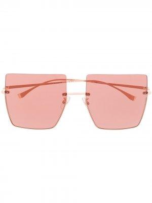 Солнцезащитные очки с затемненными линзами Fendi Eyewear. Цвет: розовый