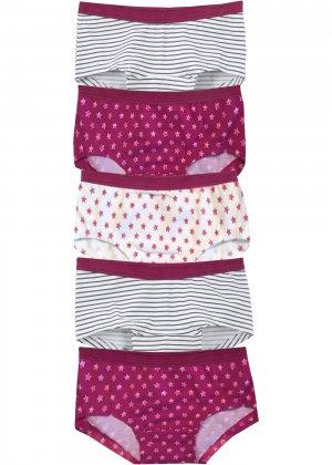 Трусики-панти для девочек (5 пар) bonprix. Цвет: розовый