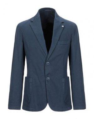 Пиджак ALESSANDRO GILLES. Цвет: грифельно-синий