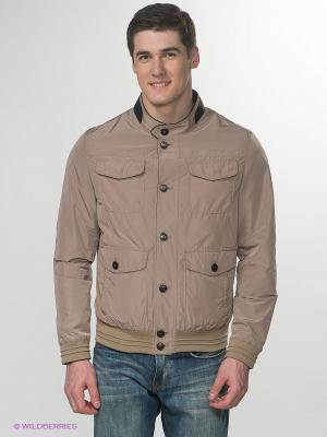 Куртка Claudio Campione. Цвет: бежевый, темно-коричневый