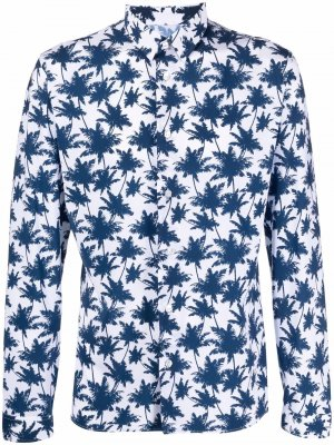 Рубашка с длинными рукавами и принтом Hydrogen. Цвет: белый