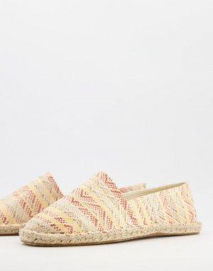 Плетеные эспадрильи с ацтекским принтом -Многоцветный ASOS DESIGN
