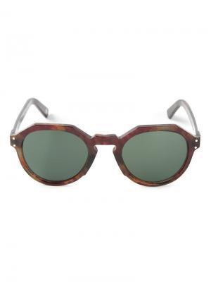 Солнцезащитные очки с оправой геометрической формы Ahlem. Цвет: красный