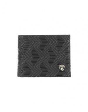 Бумажник AUTOMOBILI LAMBORGHINI. Цвет: темно-коричневый