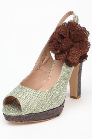 Туфли Elche. Цвет: зеленый, коричневый