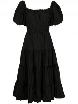Платье миди с короткими рукавами Jason Wu. Цвет: черный