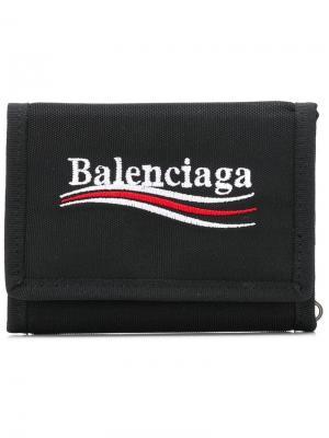 Квадратный кошелек для мелочи Explorer Balenciaga. Цвет: черный